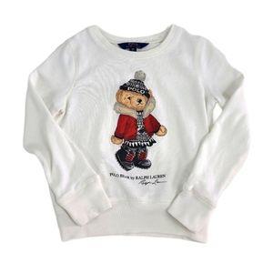 Polo Ralph Lauren Winter Bear Sweatshirt White